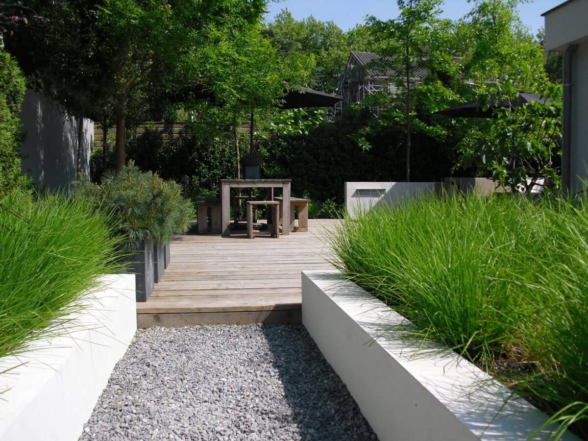 tuinen tuinaanleg moderne tuin grassen hovenier Haarlem en omgeving
