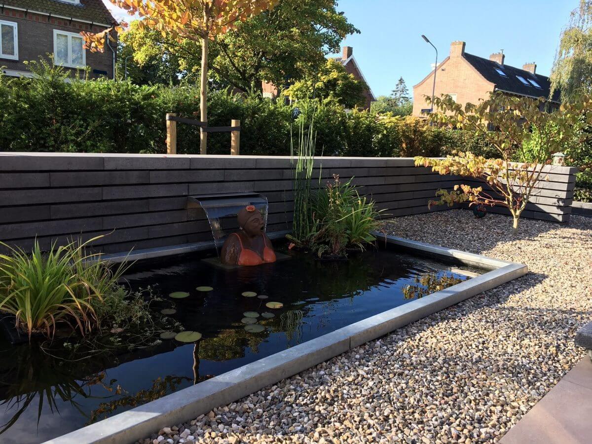 vijver tuinaanleg hoveniersbedrijf regio Amstelveen
