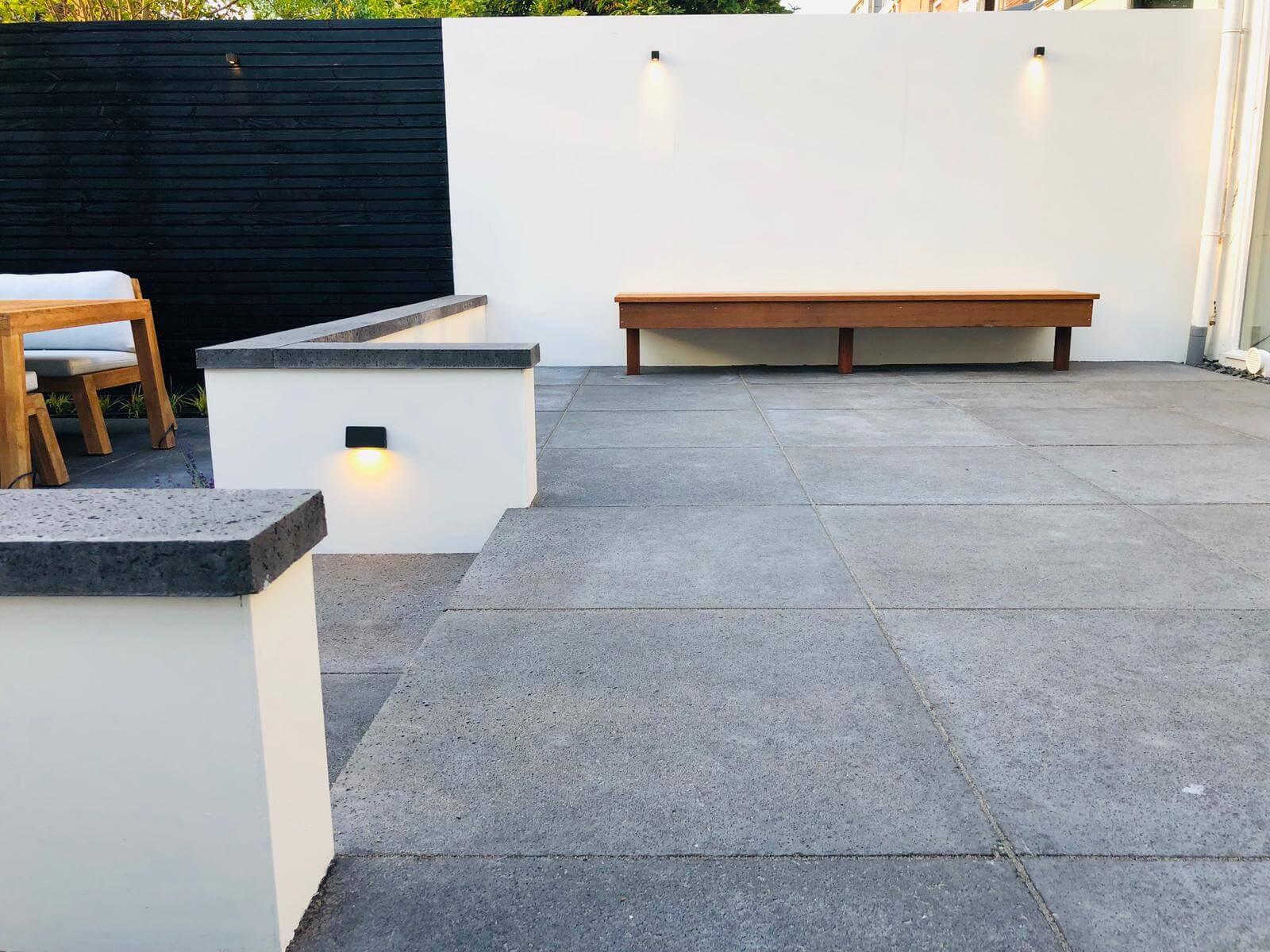 betontegels antraciet tuinaanleg