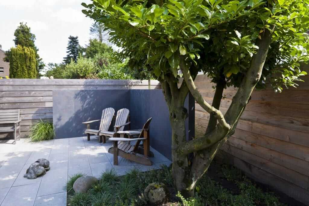 tuinmuur elemenent steenfineer tuinaanleg hoveniersbedrijf