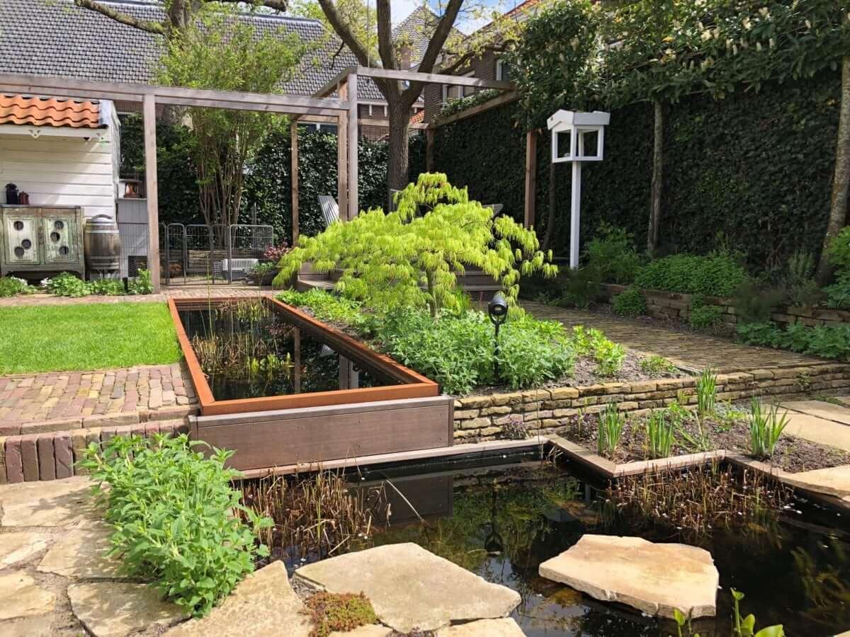 vijver beplanting tuinaanleg Amsterdam