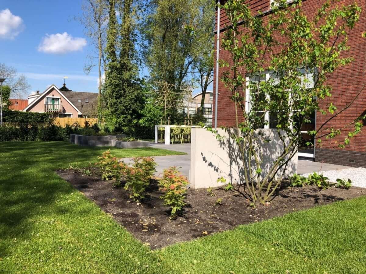 betonlook wand tuinontwerp Amsterdam
