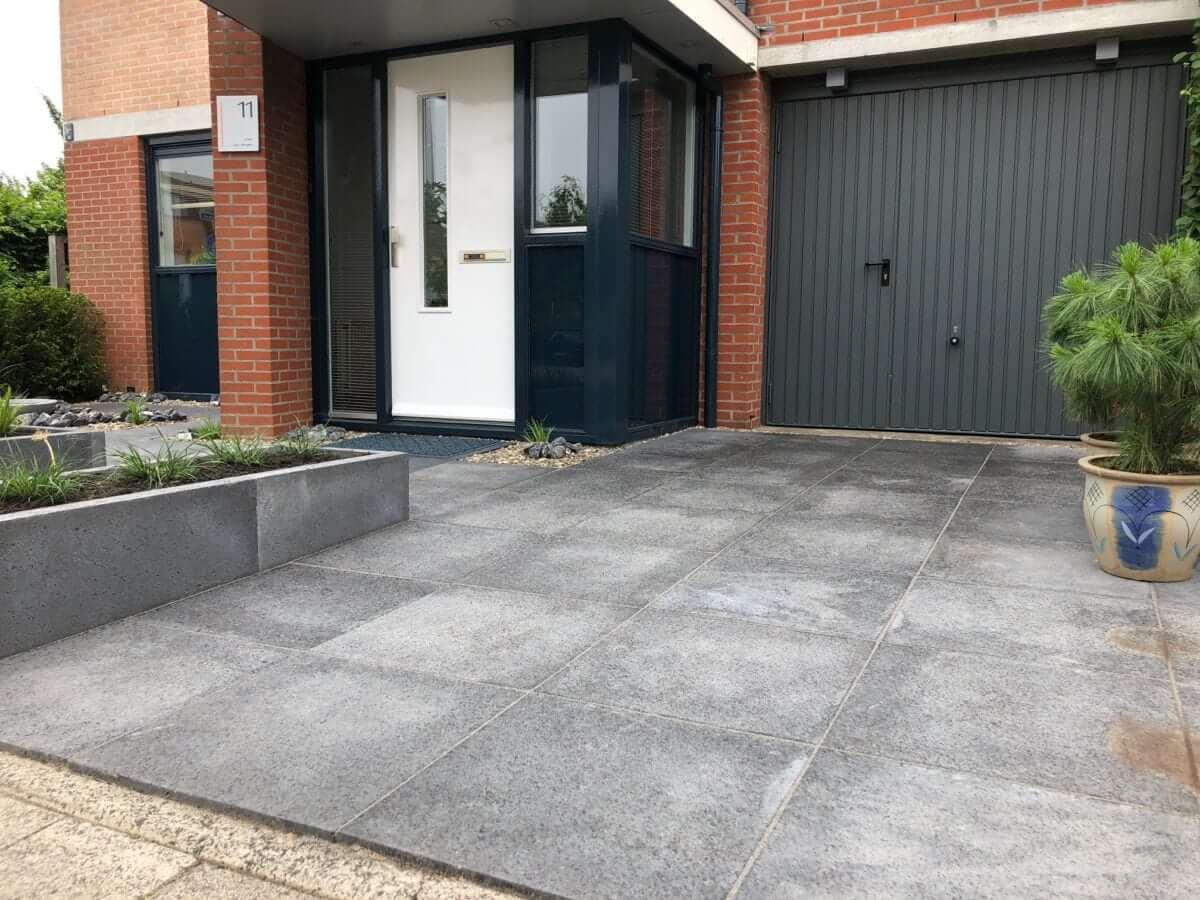 Oprit betontegels schellevis