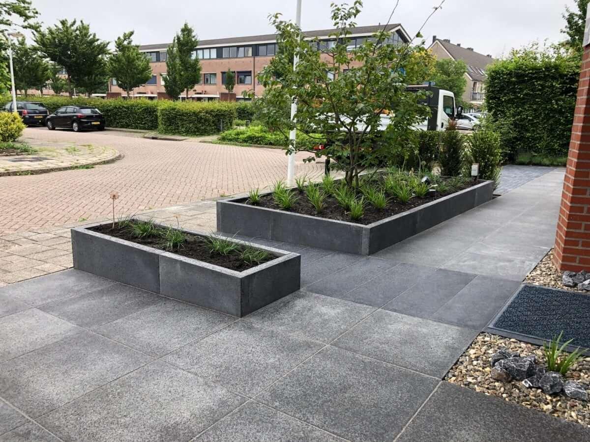 betonnen oprit Schellevis Tuinman