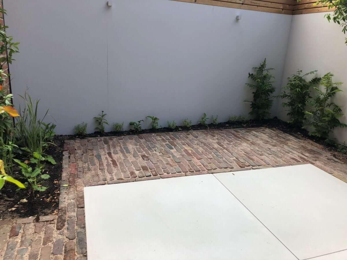 XXL mega tegel tuin aanleg