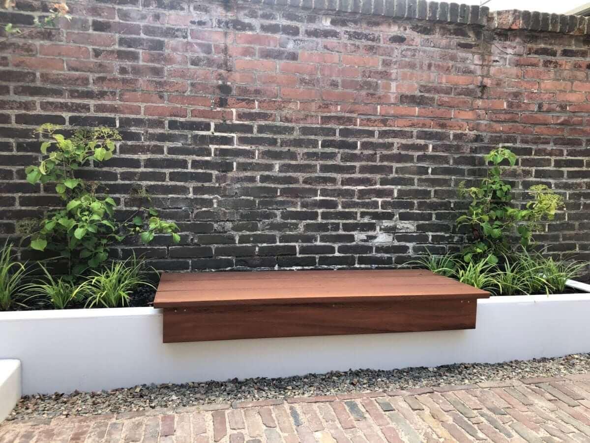 tuinontwerp amsterdam bank plantenbak