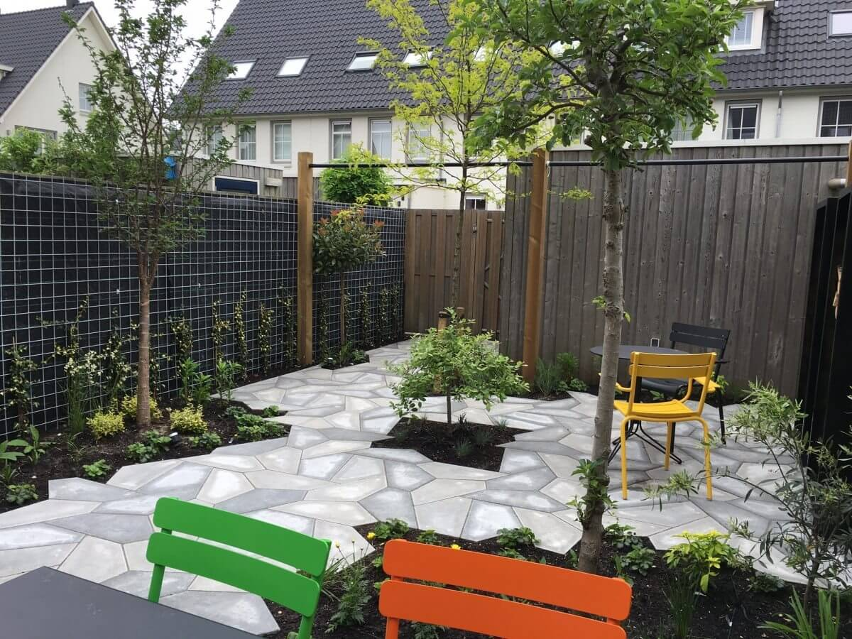 Tuin aanleg hovenier Amstelveen parksteen