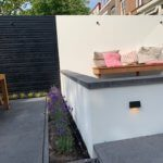 betonlook muur tuin