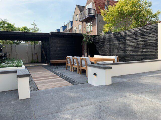 trap in tuin beton