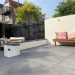 betonlook industriele tuin