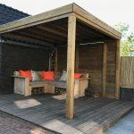 veranda bamboe hout loungen