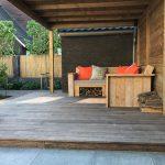 tuin met overkapping hout douglas Amsterdam