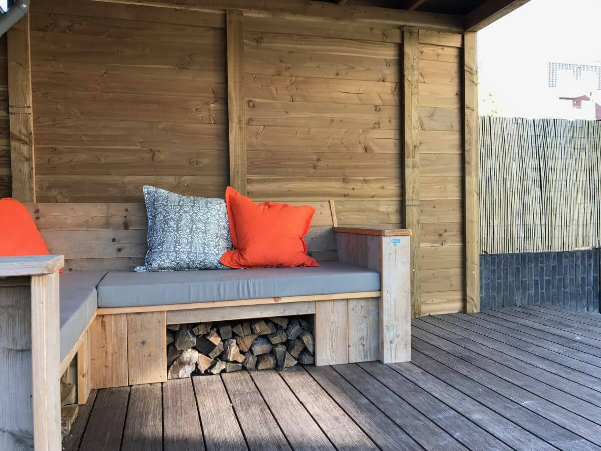Veranda terrasoverkapping douglas hout