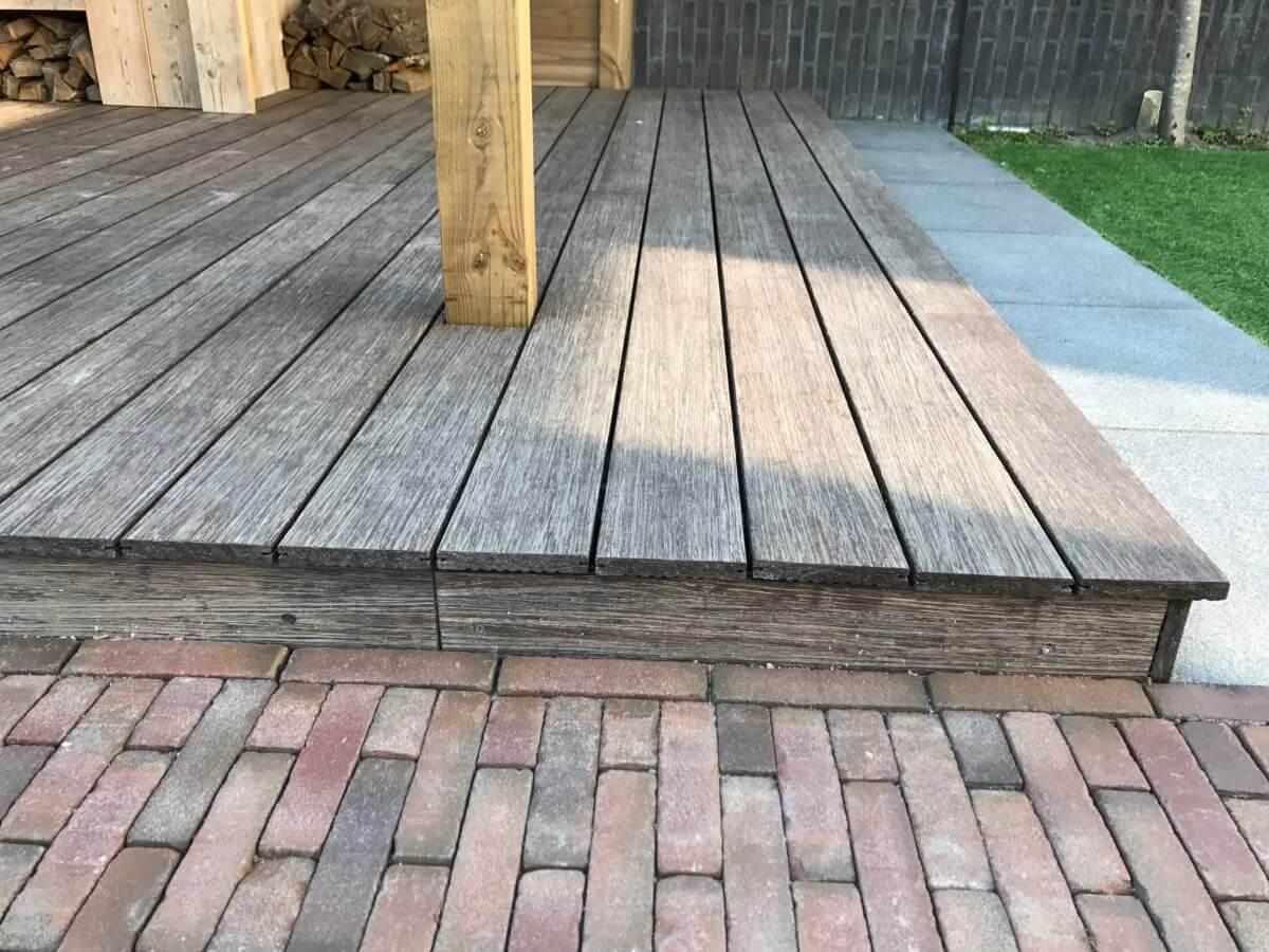 verhoogde vlonder bamboe hout