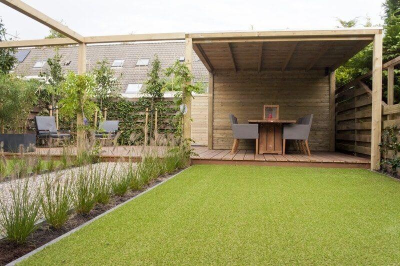 kunstgras veranda overkapping hovenier aanleg Amsterdam