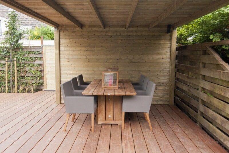 overkapping veranda vlonder hovenier tuinaanleg Amstelveen