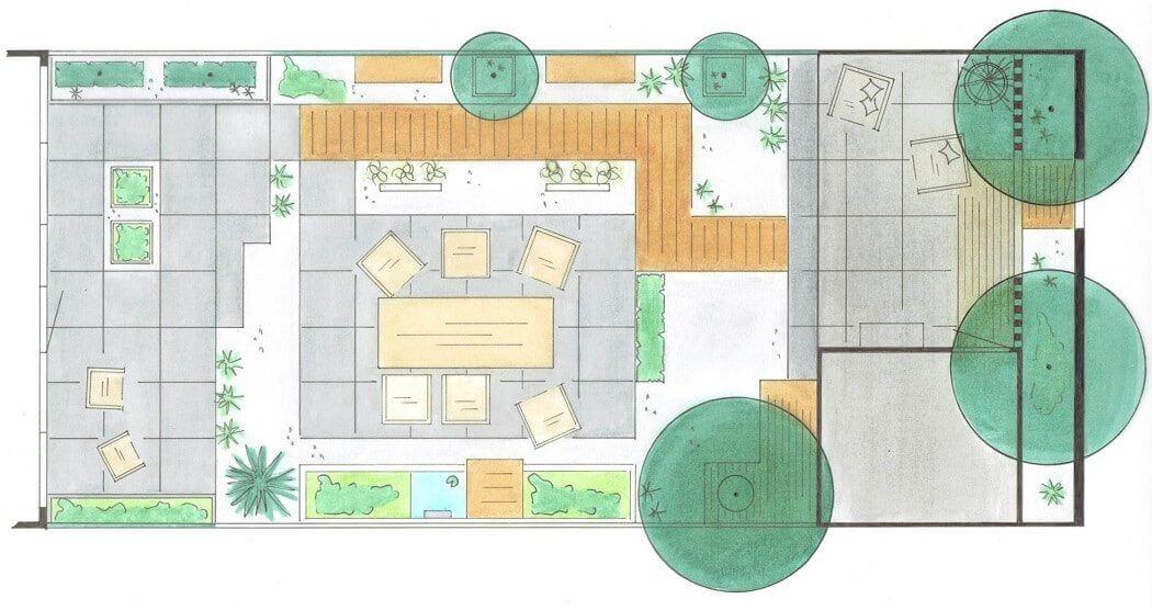 Tuinontwerp voor een tuin op maat door uw hovenier in for Tuinontwerp heemstede
