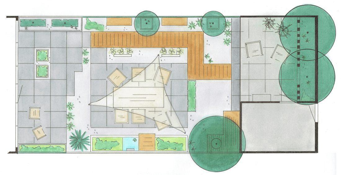 Tuinontwerp voor een tuin op maat door uw hovenier in for Tuinontwerp door studenten