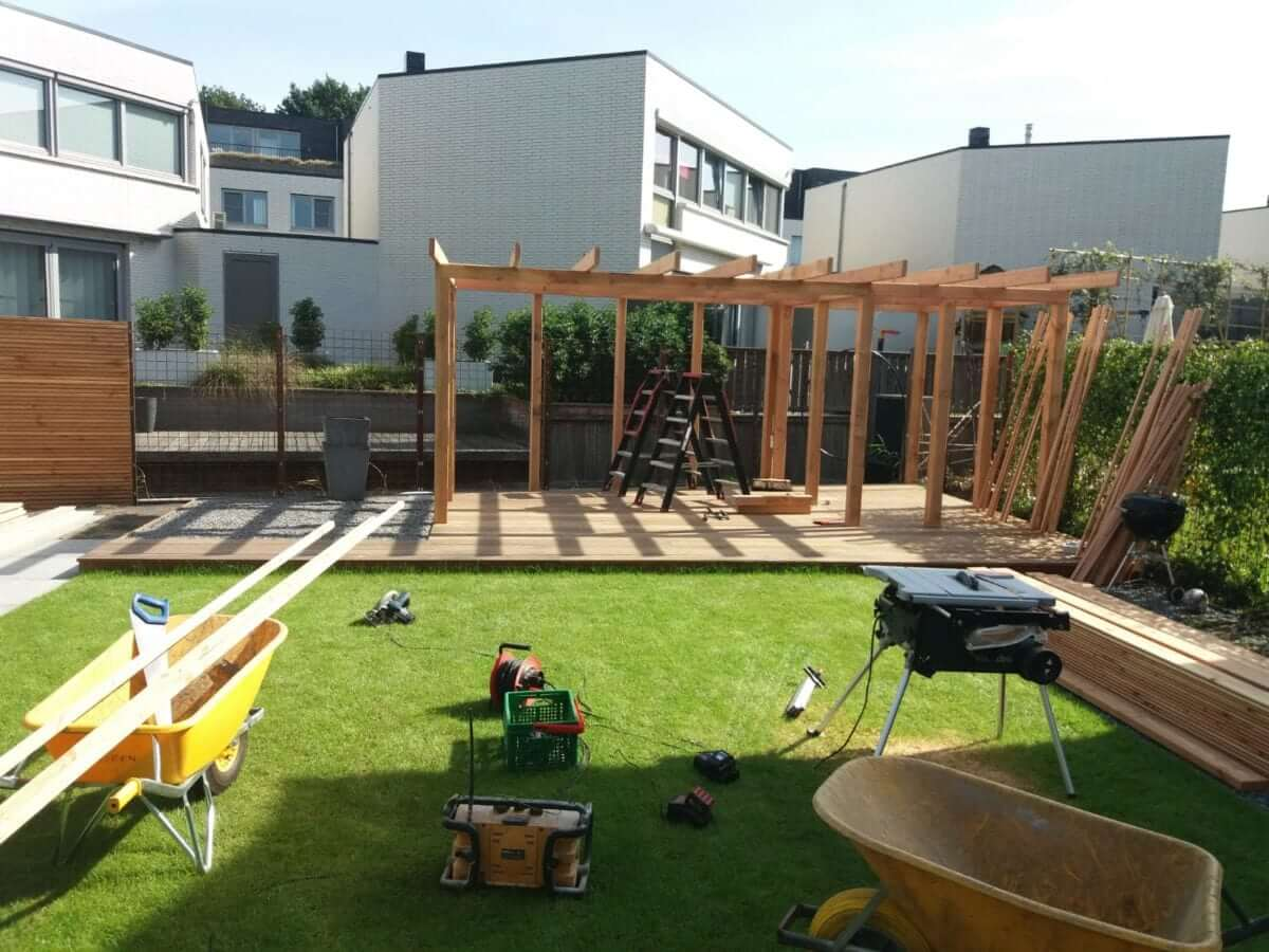 afdak tuin aanleg hovenier