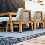 houten tuinset tuinontwerp tuinaanleg