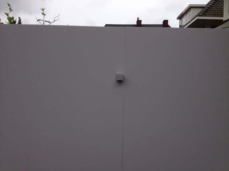Verlichting op muur van Eterboard op maat door hovenier aanleg Badhoevedorp, Heemstede, Haarlemmermeer, Amstelveen