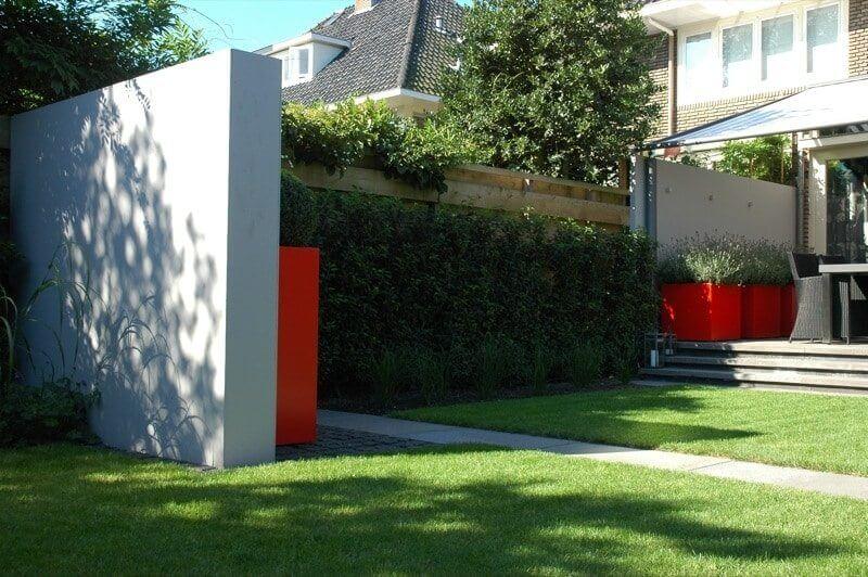 tuinmuur cement plantenbakken hoveniersbedrijf Amsterdam