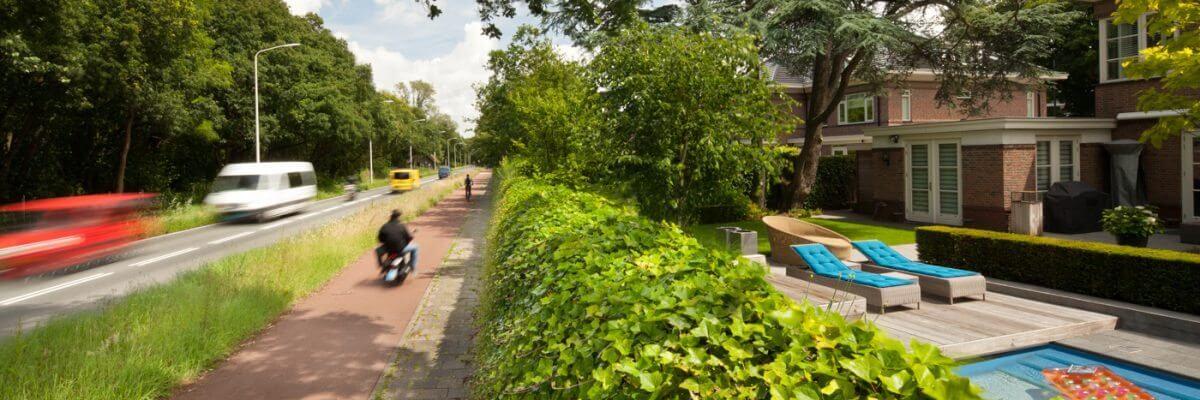 tuinaanleg geluidswerende schutting Greenwall Amsterdam
