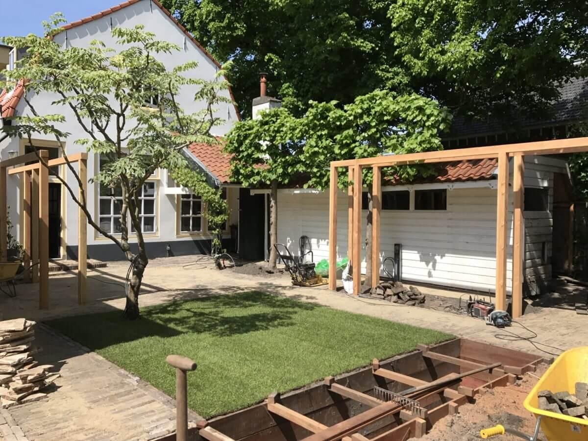 vijver aanleg tuin hoveniersbedrijf Amsterdam