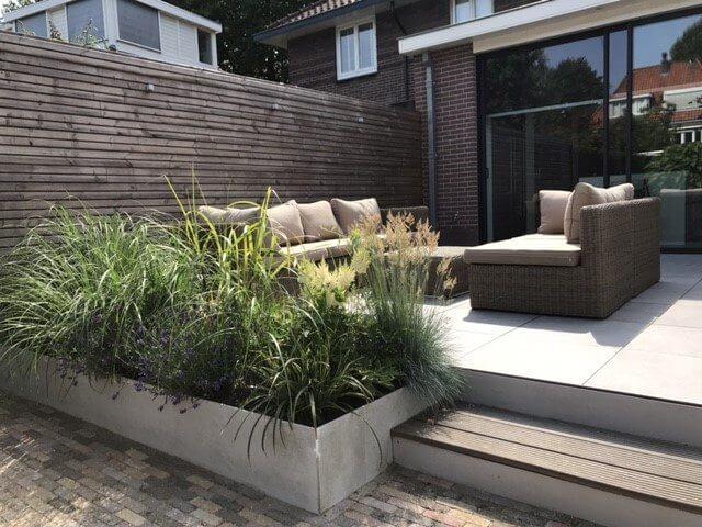 moderne loungetuin tuinaanleg Amsterdam hoveniersbedrijf